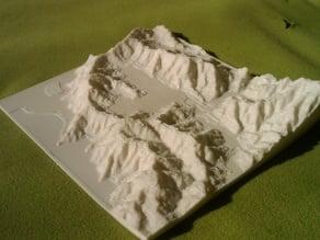 Wainuiomata relief model