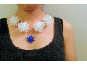 Mathematical Art: Flower Ball (Necklace)