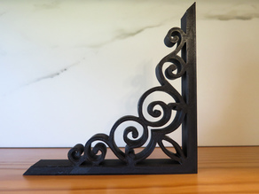 Faux Cast Iron Scroll for Ikea Bracket