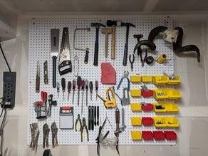 Workshop Pegboard Installation Hardware