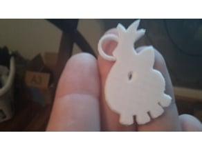 Lugia Soul Silver Emblem/Badge