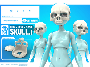 Quin: Skull Mask - 3DKitbash.com