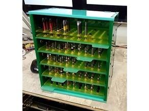 Driver bit organizer tool drawer