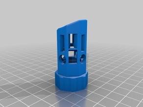 Airsoft angled flash suppressor