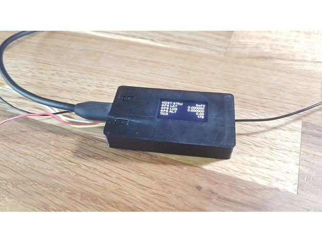 Wemos TTGO LORA SX1278 ESP32 OLED Module Case by SnappyFPV