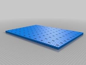 Pegboard 15mm construction help pattern