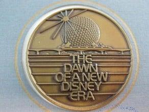 Original Opening Day 1982 EPCOT Center Commemorative Coin