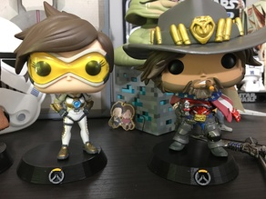 Funko POP Stand with Overwatch Symbol