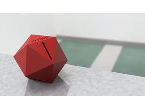 Icosahedron Coin Jar
