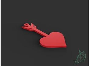 Pendente cuore San Valentino_ Pendant heart San Valentine