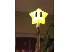 Mario Star Decorations Xmas Tree Topper with Simple LED Lighting
