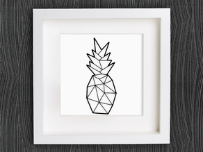 Customizable Origami Pineapple