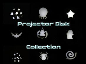 Projector disk collection