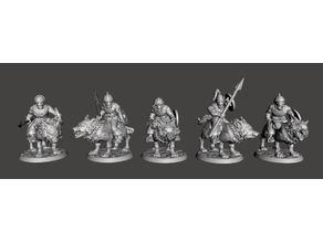 28mm - Orc / Goblin / Hobgoblin Wolf Rider Cavalry Squad pt2