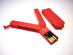 Butterfly knife USB flash drive