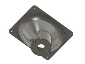 90x60 degree horn - elliptical profile with wide radius - for 2 bolt, 1 inch throat compression drivers