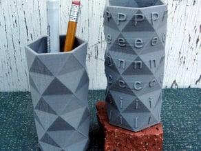 Hexagonal Antiprism Pencil Holders