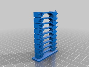 Customizable Temperature Tower Version 2 S3D compatible