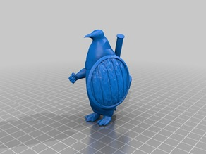 Aarakocra Penguin Variant D&D Mini