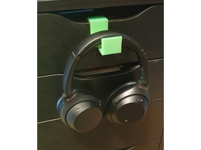 Headset holder for IKEA alex drawer