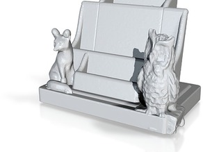 leaflet stand and card holder
