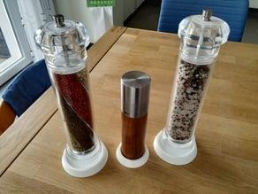 pepper or salt mill coaster