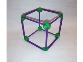 Make a Cube / Hexahedron: Vertex and Edge, Platonic Solid