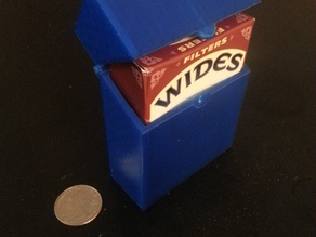 Cigarette Box/Battery Holder Hinged Single Print
