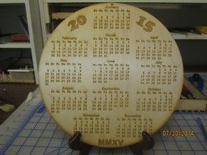 2015 Calendars.  Laser  Wood  Cube  Circle  Hex Clock