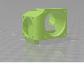 Cooling duct for E3D V6 CLONE, 40mm cooling and 30mm parts fan