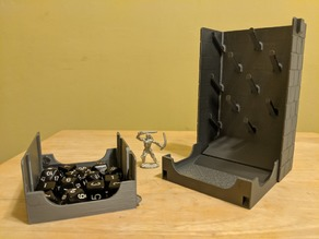 Plinko Dice Tower With Magnetic Latch and Detachable tray
