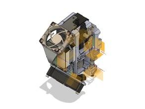 Bondtech prusa i3 mk3. bmg fan mount