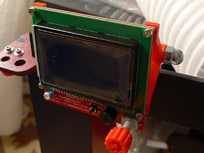 LCD Controller Mount for Prusa i3 6mm frame