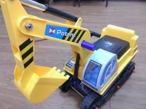 Excavator Power Construction Truck Toys Handle repair