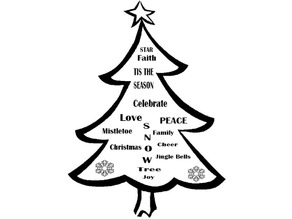 Christmas Tree - Plaque