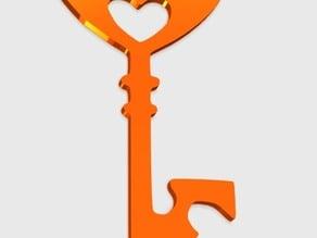 Key Heart Pendant