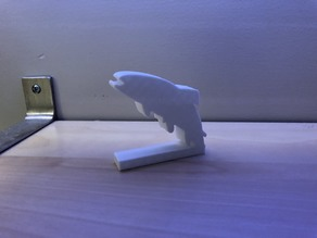 Trout Desktop Decoration and Hook Display