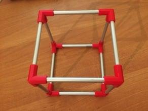 Just cube - aluminium rods and plastic