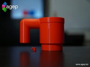 Human Scale LEGO Mug