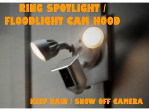 Ring Spotlight / Floodlight Cam Hood - Rain + Snow Top Cover