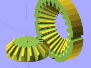Ekobots - Bevel gear generator.