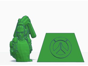 Lucio bust and stand - Overwatch