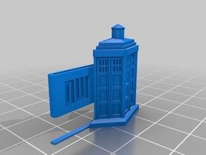 TARDIS tie clip
