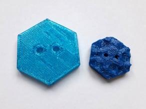 Button hexagon - Knopf Sechseck