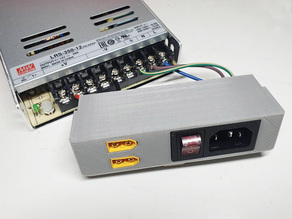 MW LRS PSU cover with switch and XT60 connector (Mean Well Slim Power Supply Switch)