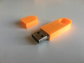Round USB key case