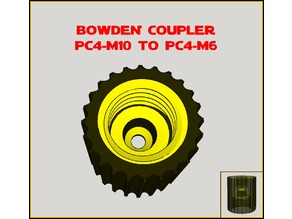 Bowden Pneufit Coupler PC4-M10 to M6