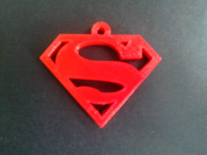 Superman pendant or keychain