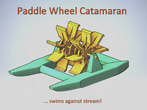 Paddle Wheel Catamaran - swims against stream