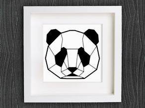 Customizable Origami Panda Head